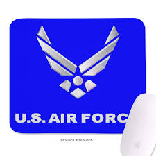 Amazon Com Wiblihdian Us Air Force Flag Mouse Pad