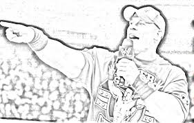 John Cena Coloring Pages Coloring Ideas
