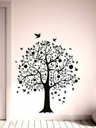 decals wall stickers tree apple fruits black color office wall art decoration vinyl
