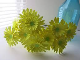 Daisy Paper Flower One Dozen Neon Yellow Gerbera Daisy Bouquet 3 Inch Paper Flowers On Stems Lemon Gerber Daisies Silk Flower Arrangements