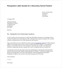 sample school resignation letters