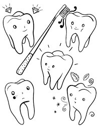 Small Picture Printable tooth coloring page Free PDF download at http