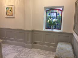beaded entrance hall panelling