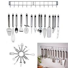 12 Pieces Stainless Kitchen Utensils With Hanging Rack