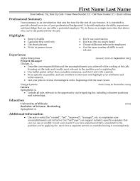 Basic Resume Template Free Professional Resume Templates Livecareer