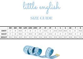 Crochet Baby Sweater Size Chart Size Chart Little English
