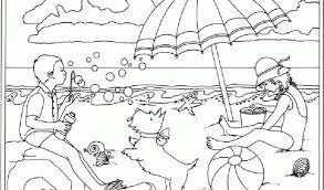 Bagno Da Colorare Per Bambini Con Disegni Sull Estate Per Bambini