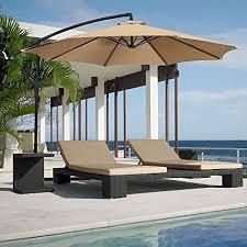 patio umbrellas cantilever. Unique Cantilever FARLAND 10 Ft Offset Cantilever Patio Umbrella Outdoor Table Market Hanging  Umbrellas With Cranks 8 And D