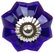 blue glass door knobs turquoise flower drawer knob by french grey interiors original antique cobalt blue glass door