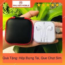 HCM]Tai Nghe Iphone 6 6S Plus Zin Máy New 100% - Tặng Kèm Hộp Đựng Cao Cấp  + Que Chọt Sim   Tai Nghe Có Dây Nhét Tai