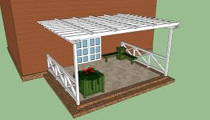 image of attached pergola plans free