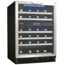 danby silhouette wine cooler. Contemporary Silhouette Danby Silhouette 51Bottle BuiltIn Wine Cooler Intended The Home Depot