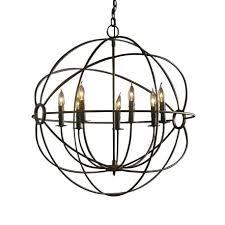 industrial orb iron chandelier foucaults restoration hardware foucault crystal s chandelietml