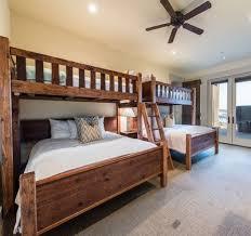 Custom Bunk Beds Twin over Queen Rustic Perpendicular Designer