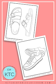Make your world more colorful with printable coloring pages from crayola. Design Your Own Shoe Coloring Pages The Kitchen Table Classroom