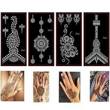 10ks Mehndi Indická Henna Tetování šablonydočasné Třpytky Airbrush
