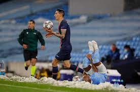 Angel Di Maria sent off for STAMPING on Fernandinho as Man City dominate  PSG to reach Champions League final