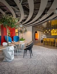office modern design. Overall The Modern Design Features Eye-catching Details And Bold Colors Which Lead To An Energetic Atmosphere. Office