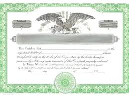 download stock certificate template eagle stock certificate template