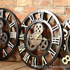 bathroom wall clocks round wall clock large gear designs antique murals decoration for living room bedroom