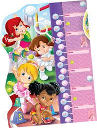 Double Fun Girls Puzzle Growth Chart