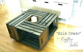 crate table diy crate coffee table plastic milk crates home depot wood milk crate coffee tables