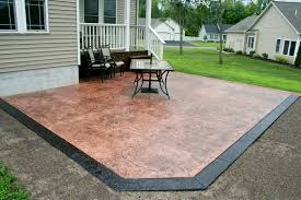 stained stamped concrete patio. Slate Patio New Stamped Concrete Stained V