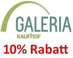 GALERIA.de 10%-Gutschein, KEIN MBW, schnelle Zusendung, paypal möglich |  eBay