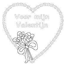 Valentijn Kleurplatennl Gratis Valentijn Kleurplaten