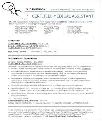 Medical Assistant Resumes Examples Magnificent Certified Medical Assistant Resume Sample Resume For A Medical