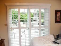 white sliding patio door blinds