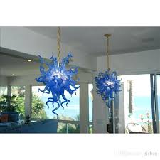 italian murano glass chandelier home decor blown glass chandelier style modern art decor blue glass style