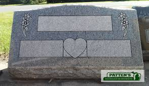 Design My Own Headstone Blank Headstone Showing A Design Before Names Are Added