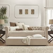 daybed. Knightsbridge Tufted Scroll Arm Chesterfield Daybed And Trundle By INSPIRE Q Artisan - Free Shipping Today Overstock 17337288 T