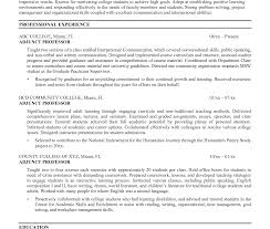 Cover Letter Facultysition Sample Resume For Engineering Adjunct