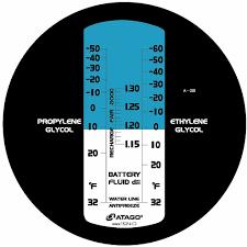 Propylene Glycol Specific Gravity Freezing Point Chart