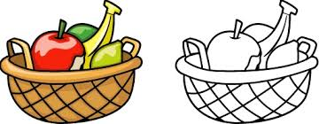 Small Picture coloring pages of fruits in a basket for kids Coloring Point