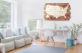 huuuge usa map wall decor vintage inspired