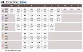 Holloway Apparel Size Chart Size Charts