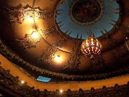 the fox theatre chandelier and ceiling