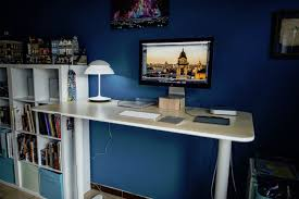 home office standing desk. Ikea Home Office Standing Desk Man Of Many
