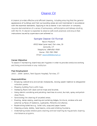 Cleaner Sample Resume Free Resume Example And Writing Download