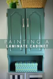 Paint For Laminate Cabinets Painted Bathroom Storage Cabinet
