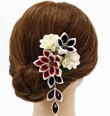 メルカリ 髪飾り 成人式 振袖 七五三 袴 花 2点セット つまみ細工