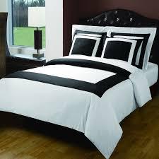 modern hotel black white egyptian cotton framed 5pc duvet cover set