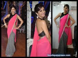 Manish Malhotra Designer Blouse Collection Shilpa Shetty In Manish Malhotra Saree Blouse