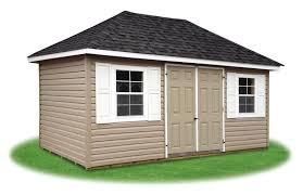 hip style storage sheds