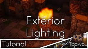 minecraft tutorial exterior lighting aesthetic lighting minecraft indoors torches