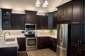 kitchen elegant modern dark ideas cabinets with white island