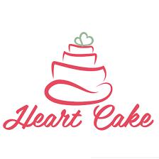 Heart Cake Logo Design